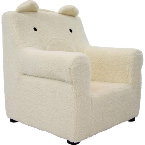 Hanover Outdoor Furniture - Critter Sitters 20-In. Plush White Bear Animal Shaped Mini Chair - Furniture for Nursery, Bedroom, Playroom, and Living Room Decor, CSBRCHR-WHT