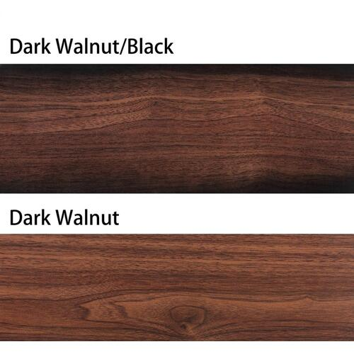 Safavieh - Pearla Ceiling Light Fan - Dark Walnut With Black / Dark Walnut