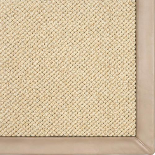 Venus Sand 2'x8' Runner / Leather Border