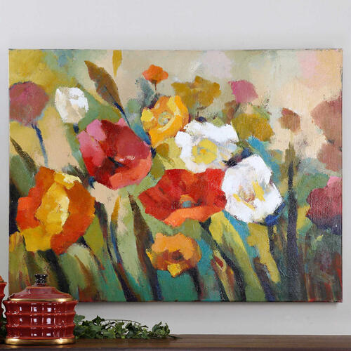 Uttermost - Spring Has Sprung Hand Painted Canvas