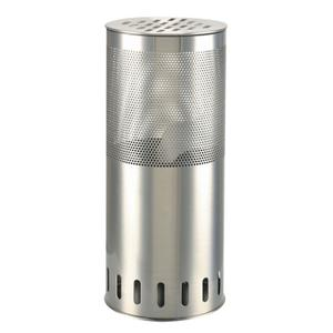 Cylinder Accent Table Lamp, Polished Steel, 5w Mr-11 Type