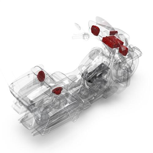 Rockford Fosgate - 1998-2013 Harley-Davidson® Electra Glide® Ultra Classic® Source Unit, 4-Speaker & Amp Kit
