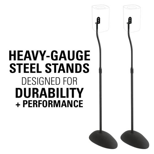 Adjustable Height Speaker Stands for Roku TV Wireless Speakers and Other Speakers Up to 4 lbs.