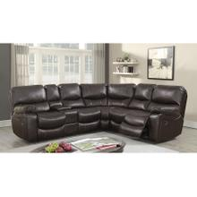 Ramsey Brown Leather-Look Reclining Sectional, M6053