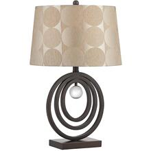 Table Lamp, D.BRONZE/CRYSTAL DECO./FABRIC Shade, E27 Cfl 23w