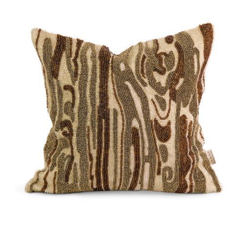 IK Lavitra Hand Beaded Pillow w/ Down Fill