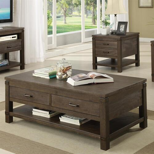 Promenade - Rectangular Coffee Table - Warm Cocoa Finish