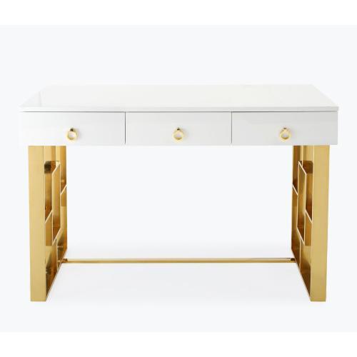 Tov Furniture - Audrey White Lacquer Desk
