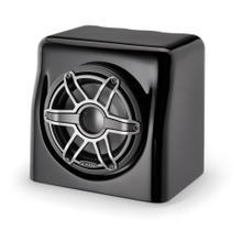 View Product - Single M6-8W, Gloss Black Fiberglass Sealed Enclosure, Gunmetal Trim Ring, Titanium Sport Grille, 4