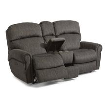 Product Image - Langston Fabric Power Reclining Loveseat with Console and Power Headrests