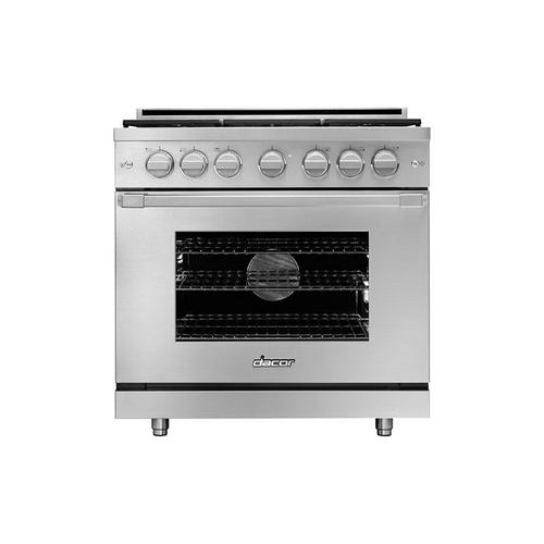 "36"" Gas Pro Range, DacorMatch Natural Gas/High Altitude"