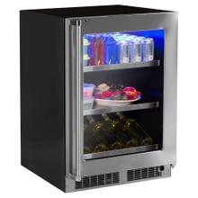 See Details - 24-In Professional Built-In Beverage Center With Classic Hinge with Door Swing - Right