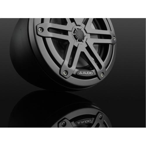 JL Audio - 6.5-inch (165 mm) Enclosed Coaxial System, Matte Black Enclosure, Gunmetal Sport Grilles