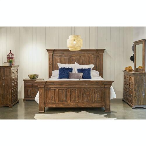 Olivia Brown Bedroom - Queen Bed, Dresser, Mirror, Chest, and Night Stand