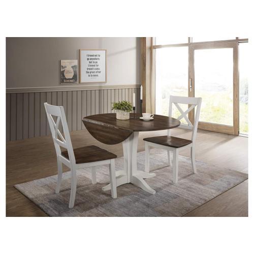 5057 A La Carte White 3-Piece Drop-Leaf Dining Set