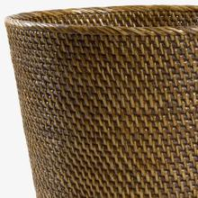 View Product - Rattan Small Round Waste Can in Chestnut