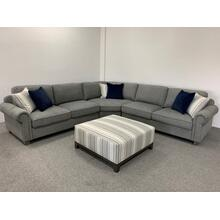 Emeraldhome Rsf Loveseat Grey W/2 Pillows U3029-12-13