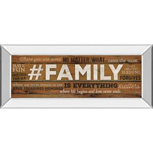 """""""Family Is Everything"""" By Marla Rae Motivational Mirror Framed Print Wall Art"""