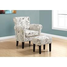 ACCENT CHAIR - 2PCS SET / VINTAGE FRENCH FABRIC