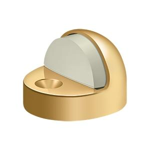 Dome Stop High Profile, Solid Brass - PVD Polished Brass