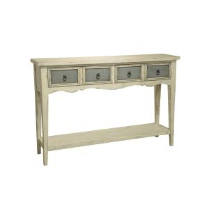 Two Tone Distressed Console Table