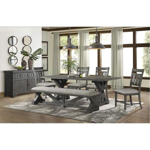 Gallery - 5062 Old Forge 6-Piece Dining Set (with 4 wood chairs & bench)