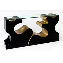 """View Product - Console Table with Glass 61x15x31"""""""