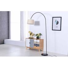 2800 BLACK Arc Floor Lamp