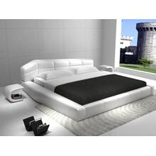 Modrest D518 Modern White Bonded Leather Bed