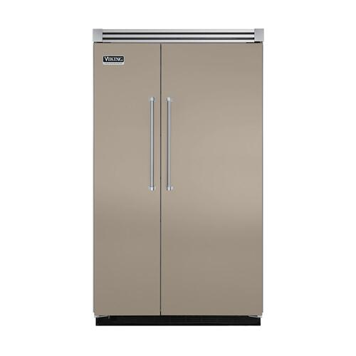 "Viking - Taupe 48"" Quiet Cool™ Side-by-Side Refrigerator/Freezer - VISB Tru-Flush™ (48"" wide)"