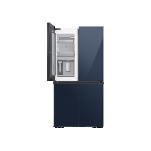 29 cu. ft. Smart BESPOKE 4-Door Flex™ Refrigerator with Customizable Panel Colors in Navy Steel