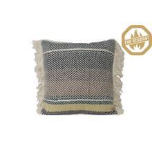 "66826500FR - YAMBIO Striped Pillow Wh+Blk+Brn+Blu+Yel, Poly Fill, 18""x18"""