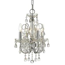 Imperial 4 Light Spectra Crystal Chrome Mini Chandelier