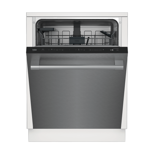 Beko - Tall Tub Stainless Dishwasher, 14 place settings, 45 dBa, Top Control