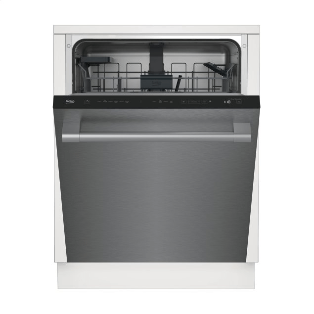 Beko Tall Tub Stainless Dishwasher, 14 place settings, 45 dBa, Top Control