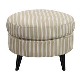 Oscar Chair & Ottoman Set Tan Stripe