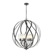 See Details - Daisy 6-Light Chandelier in Midnight Bronze with Clear Glass