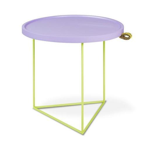 Gus* x LUUM Porter End Table - Chatoyant Violet Pop Chatoyant