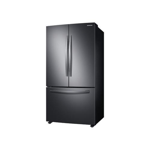 Samsung - 28 cu. ft. Large Capacity 3-Door French Door Refrigerator in Black Stainless Steel