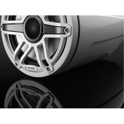 JL Audio - 7.7-inch (196 mm) Enclosed Tower Coaxial System, Gloss White Enclosure, Gloss White Trim Ring, Gloss White Sport Grille