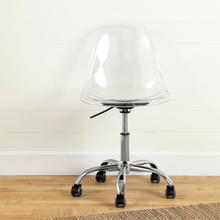 View Product - Annexe - Acrylic Office Chair with Wheels, Translucent