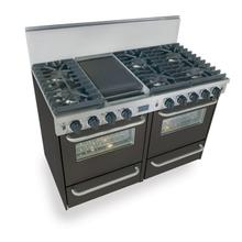 """See Details - 48"""" All Gas, Convection, Sealed Burners, Black"""