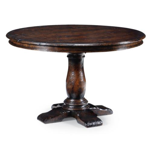 "48"" French country dark oak table"