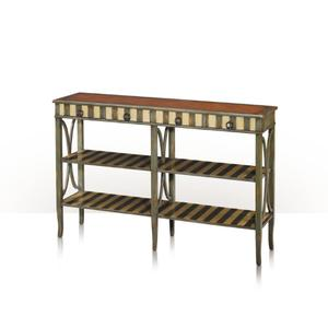 Theodore Alexander - Parisian Double Console, Gris & Ivory
