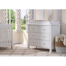 Madisson 4 Drawer Dresser with Changing Top - White Ambiance (108)