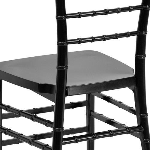 Flash Furniture - HERCULES PREMIUM Series Black Resin Stacking Chiavari Chair