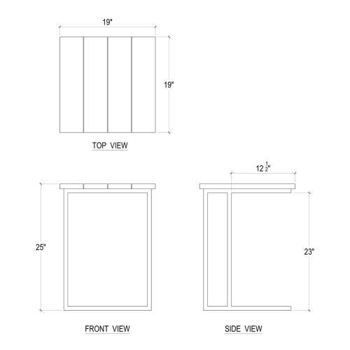 Product Image - Slide Under Sofa Tray Large