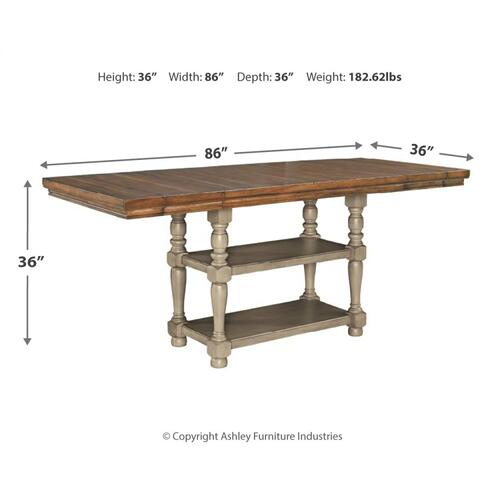 Lettner Counter Height Dining Extension Table