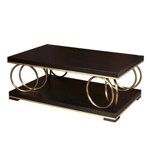Gold Rings Gold and Black Cocktail Table