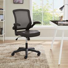 Veer Vinyl Office Chair in Brown